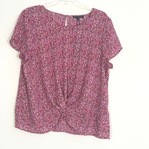 NEW Adrianna Papell twist front blouse NK